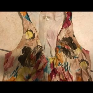 Matty M size small floral racerback silky shirt